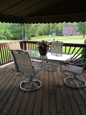 Beautiful patio set 6 chairs 2 tables for Sale in Murrysville, PA