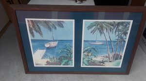 Sailboat beach scenes. Framed and matted artwork. for Sale in Lutz, FL