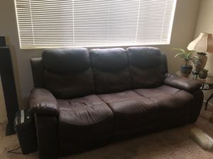 Faux leather recliner couch for Sale in Murrieta, CA