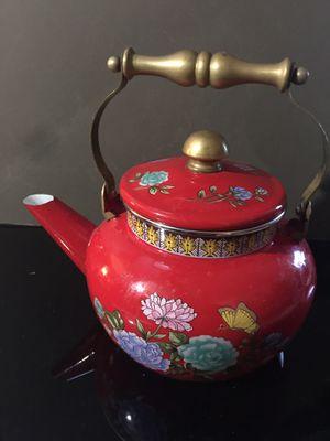 Vintage enamel tea kettle water for Sale in Tacoma, WA