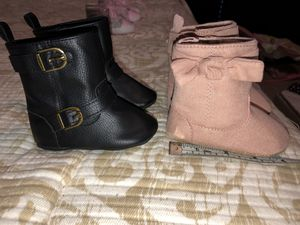 3-6 month baby girls boots/shoes for Sale in Katy, TX