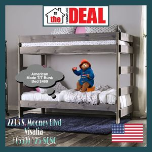 American Made Bunk Bed Twin/Twin (Solid Wood) for Sale in Visalia, CA