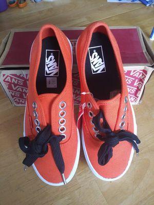 Brand New Vans Authentic lace ups Orange for Sale in Mesa, AZ