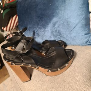 black silver stud sandal size 10 for Sale in Woodlawn, MD