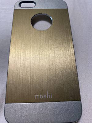 Gold and silver Moshi iPhone 5 case for Sale in Sarasota, FL