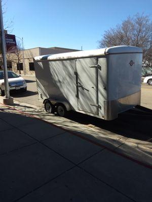 7x16 enclosed trailer for Sale in Amarillo, TX