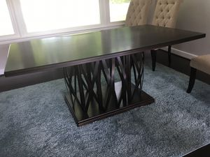 Dark Brown Dining Table ONLY for Sale in NO BRENTWOOD, MD