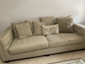 Beige/grayish couch 40x96 inches for Sale in Jupiter, FL