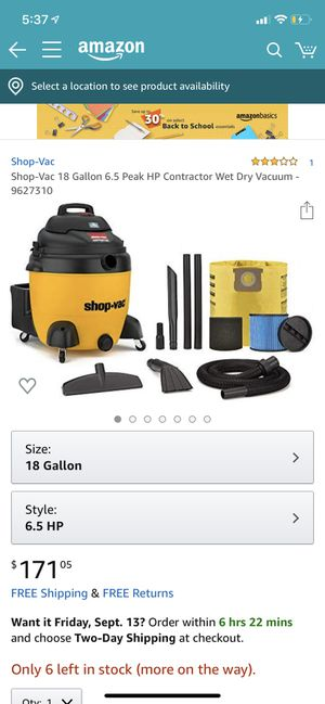 Shop Vac Brand New for Sale in Houston, TX