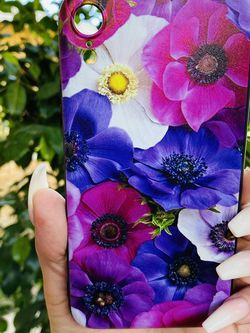 Brand new cool iphone XR case cover silicone rubber PURPLE FLOWERS Girls Womens Pretty for Sale in Redlands,  CA