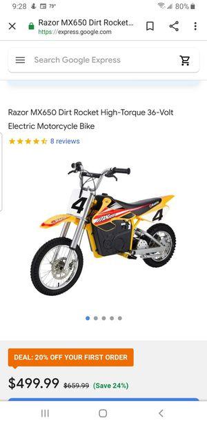 Razor Electric Motorcycle MX650 for Sale in Montgomery, AL