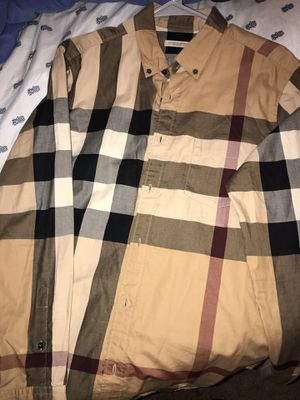 Burberry button down for Sale in Yonkers, NY