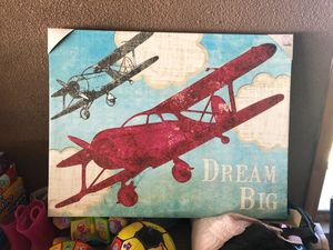 Kids room airplane picture for Sale in Berlin, CT