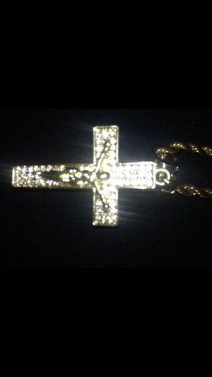 6k diamond gold Jesus Christ necklace for Sale in Rockville, MD