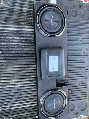 "380$. Two sub pioneer Shalow 12"" box trucks f150. 2000 to 2005 or any trucks single cabs for Sale in Phoenix, AZ"