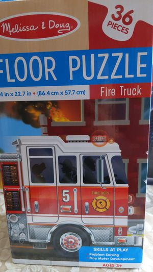 Fire truck floor puzzle 36 pieces/ pimple pete for Sale in Sacramento, CA
