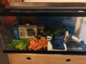 Fish Tank with Stand and Accessories for Sale in Tampa, FL