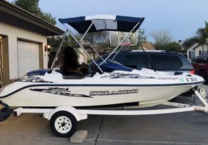 2001 Jet Ski Sea Doo Sports Boat Twine 717cc engines seadoo seat 5 Run excellent AZ Title for Sale in Tempe, AZ