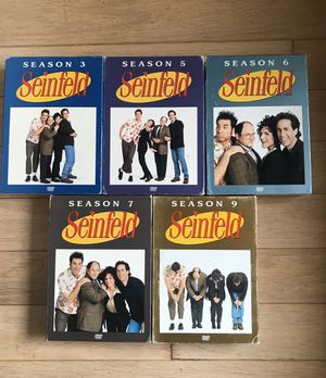Seinfeld on DVD seasons 3, 5, 6, 7, and 9. for Sale in Dallas, TX