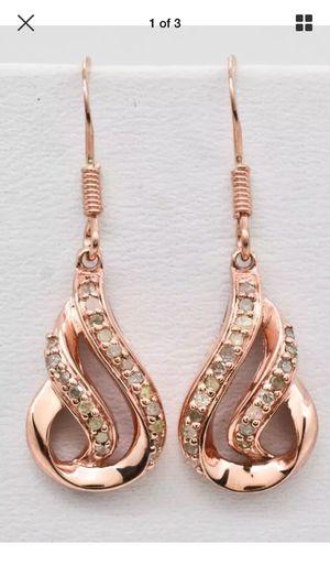 Genuine diamond 14k Rose Gold Earrings for Sale in Hendersonville, TN