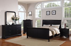 Twin/Queen/Full/King 4pc. Bedroom Set Poundex for Sale in Glendale, AZ