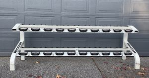 Maxicam Commercial Grade Dumbbell Rack Tier 2 10 Pairs for Sale in Clackamas, OR