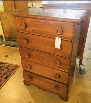 Vintage Cherry 5 Drawer Dresser w Desk Drawer for Sale in Lehighton, PA