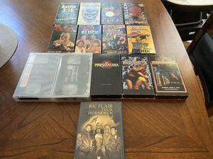 Lot of 14 WWE/ WWF Wrestling Videos- VHS & DVD for Sale in Greensboro, NC