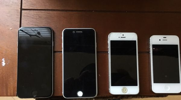 iPhone 6, 5 and 4
