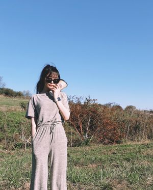 Women Jumper Suit 2piece Set Outfits Short Sleeve Long pants Beige for Sale in Los Angeles, CA