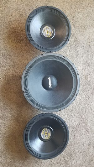 Speakers 2 12inch and 1 12inch for dj for Sale in Hyattsville, MD