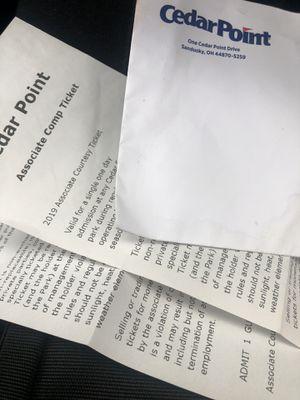 2 cedar point 2019 tickets for Sale in Belleville, MI