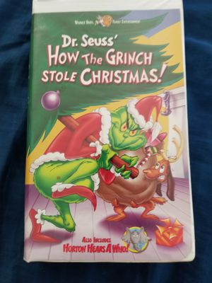 Dr Seuss the grinch stole christmas VHS for Sale in Aurora, CO