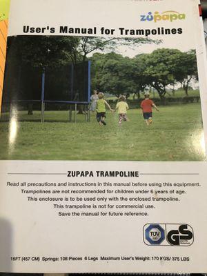 Zupapa 15ft Trampoline for Sale in Woodbridge, VA