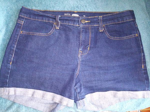 Old Navy Cuffed Jean Shorts (2 PAIR, sz 10)