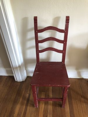 Red wooden chair for Sale in Washington, DC