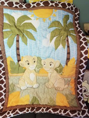 Baby Lion King Crib set. Comforter, crib skirt, crib bumper and sheet. for Sale in Brunswick, OH