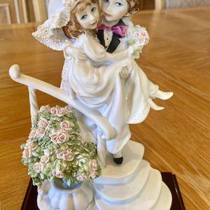 G. Armani Bride Groom Statue Porcelain Figurine Artist Sign Florence Italy 1988 for Sale in Matawan, NJ