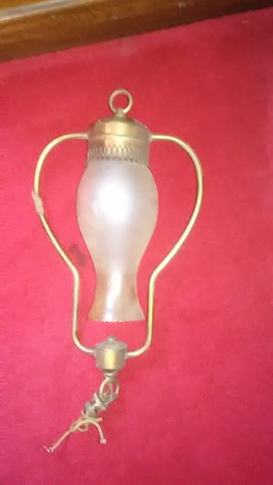 Antique brass hanging lamp for Sale in South Park Township, PA