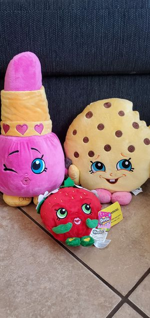 Shopkins plushies Moose toys for Sale in Phoenix, AZ