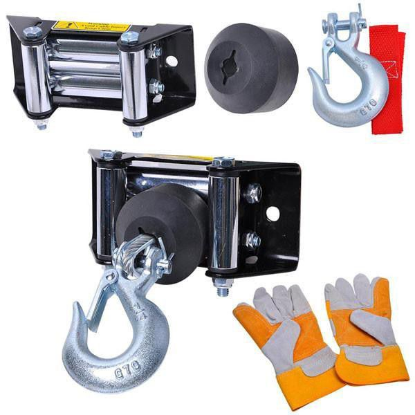 12 volt 400 lbs car truck corded remote electric winch