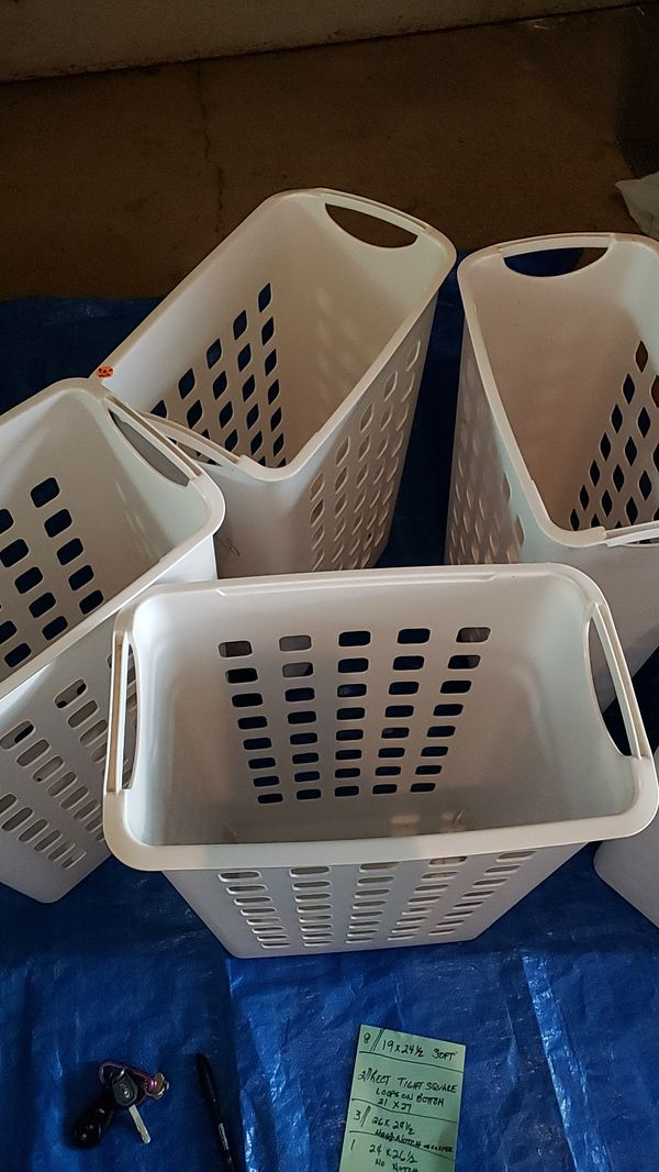 Laundry hampers white $10 for all