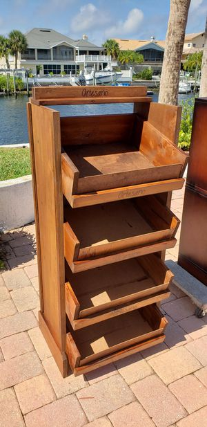 Rustic Great storage rack kids toys kitchen garage office commercial for Sale in New Port Richey, FL