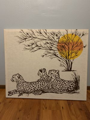 Cheetah wall decor for Sale in Spokane, WA