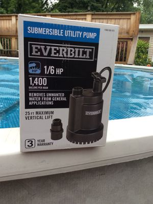 Everbilt Submersible Water Pump for Sale in Bristol, IL