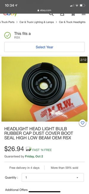 *** RIDGELINE 06-14 S2000 04-09 RSX 02-04 RSX 05-06 LOW BEAM ONLY HEADLIGHT DUST COVER for Sale in Spring Hill, FL