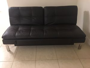 Leather Sofa Bed for Sale in Boca Raton, FL