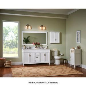 Home Decorators Collection Ashburn 48 in. W x 21.75 in. D Vanity Cabinet in White for Sale in Dallas, TX
