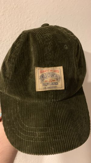 Polo Ralph Lauren Green Adjustable Hat (leather hat) $15 OBO for Sale in Safety Harbor, FL