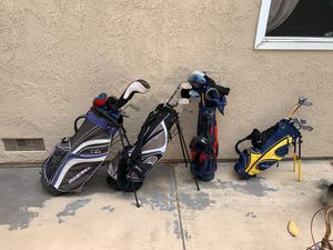 Golf clubs and bags for Sale in Huntington Beach, CA